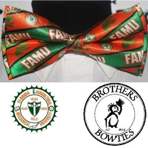 Brothers & Bowties Accessories - Florida A&M University FAMU Rattlers New! Bow tie